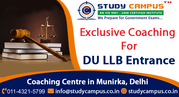 DU LLB Entrance Exam Coaching in Delhi, Munirka